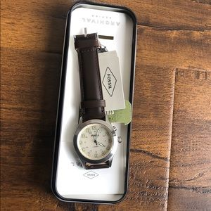The Archival Series Starmaster  leather watch